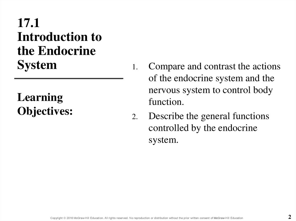17.1 Introduction to the Endocrine System