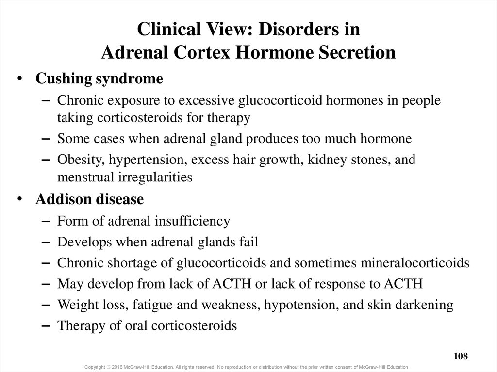 Clinical View: Disorders in Adrenal Cortex Hormone Secretion
