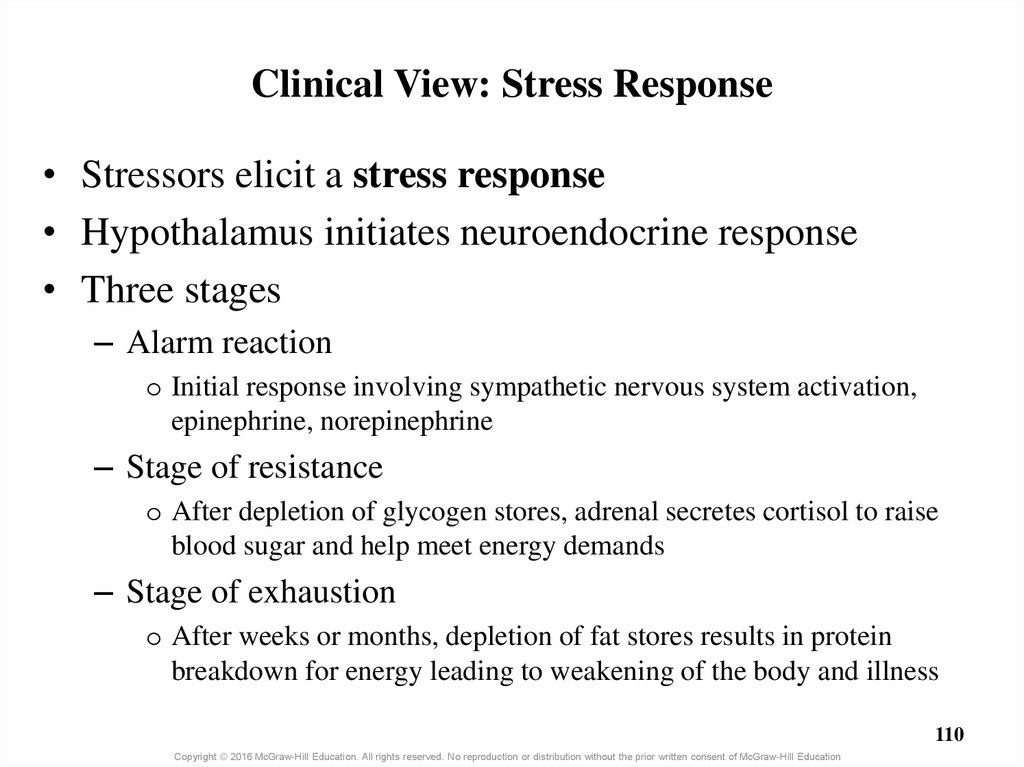 Clinical View: Stress Response