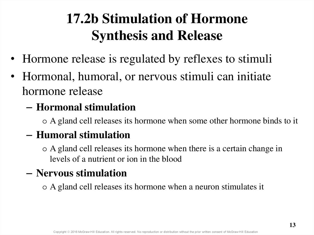 17.2b Stimulation of Hormone Synthesis and Release