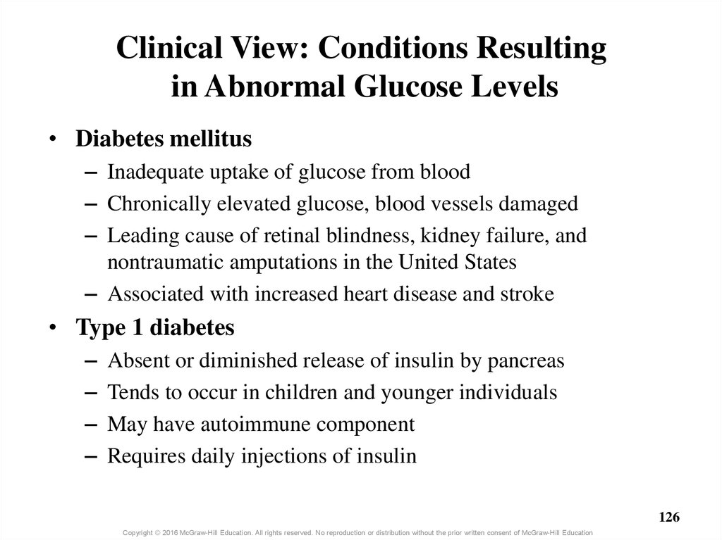 Clinical View: Conditions Resulting in Abnormal Glucose Levels