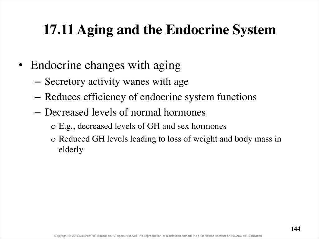 17.11 Aging and the Endocrine System