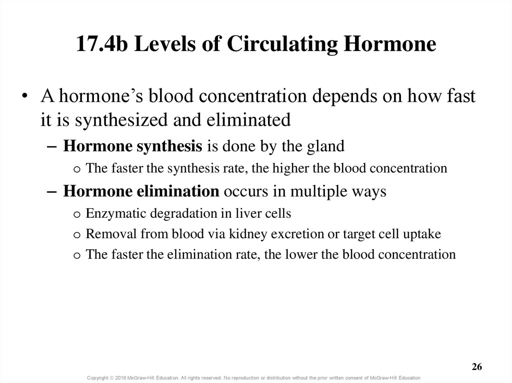 17.4b Levels of Circulating Hormone