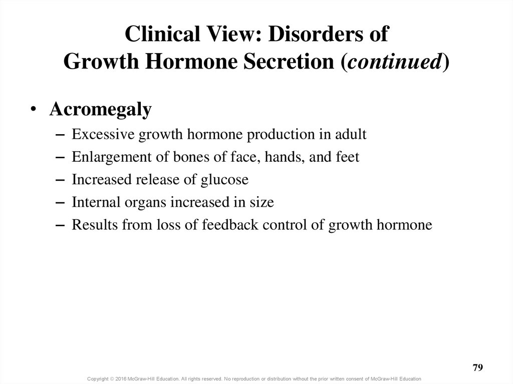 Clinical View: Disorders of Growth Hormone Secretion (continued)