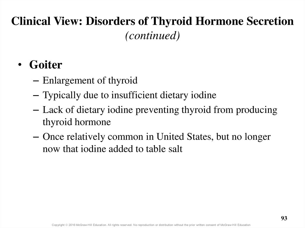 Clinical View: Disorders of Thyroid Hormone Secretion (continued)