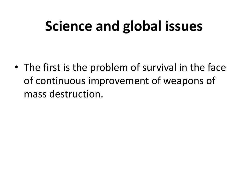 Science and global issues