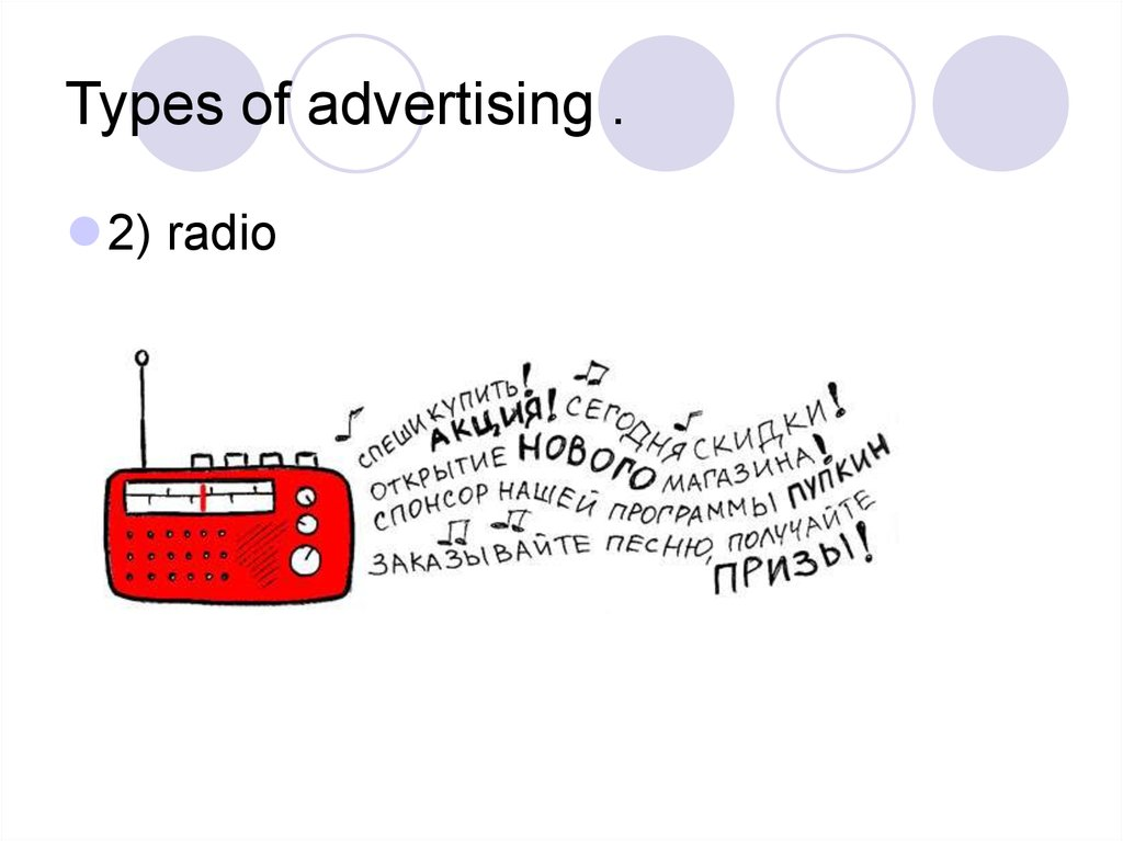 Types of advertising .
