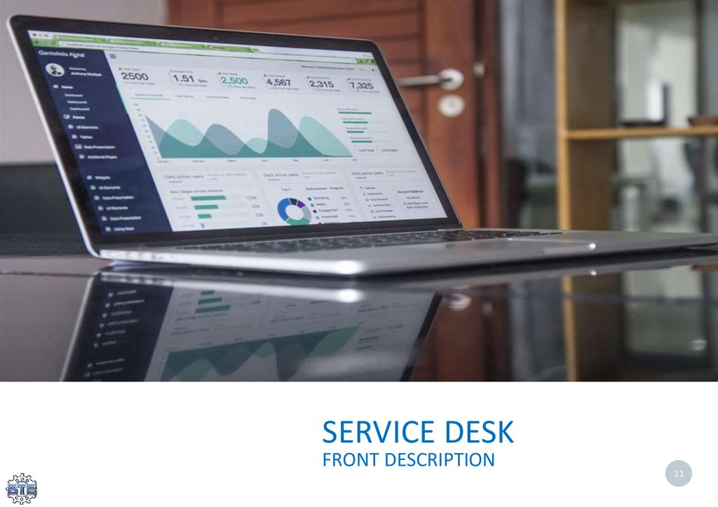 SERVICE DESK FRONT DESCRIPTION
