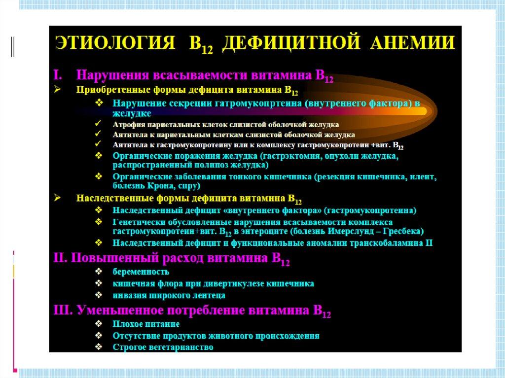 Диета Б 12. В12 дефицитная анемия