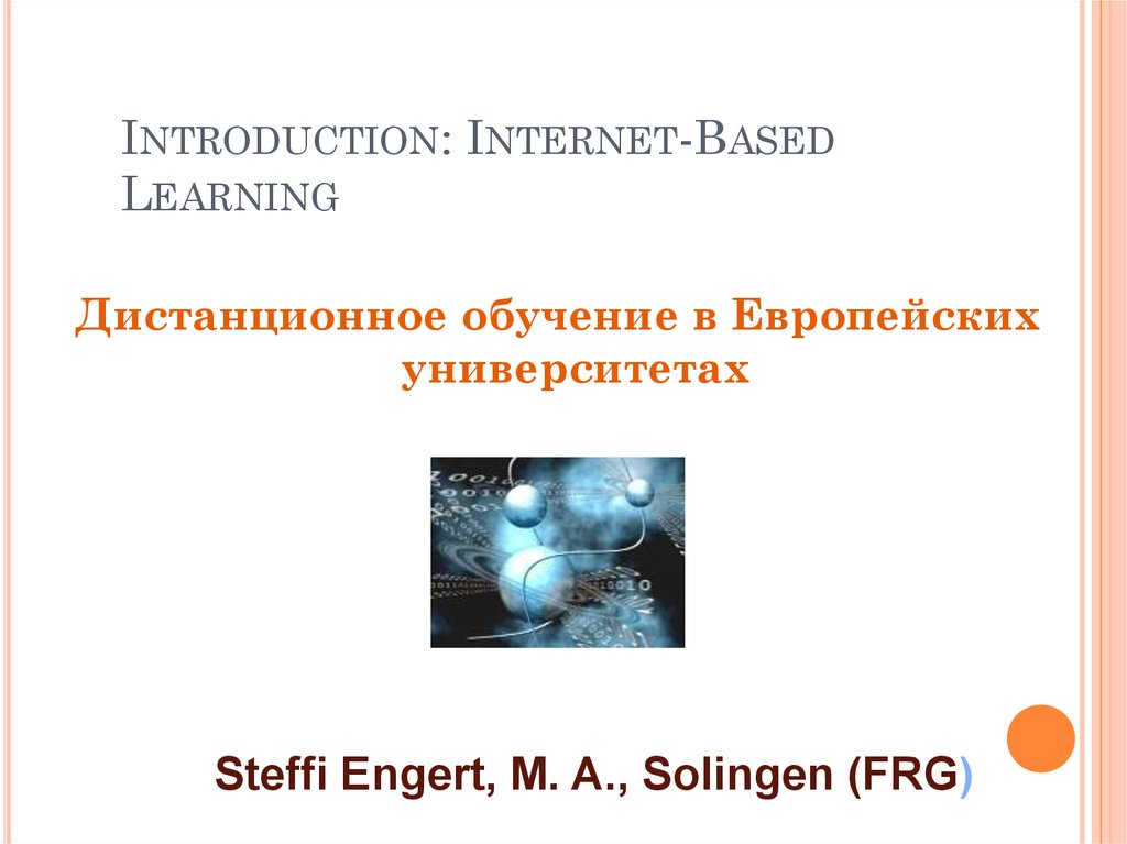 Introduction: Internet-Based Learning