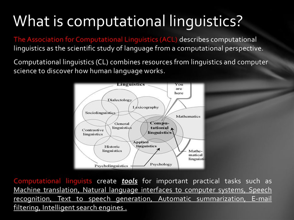 What is computational linguistics?