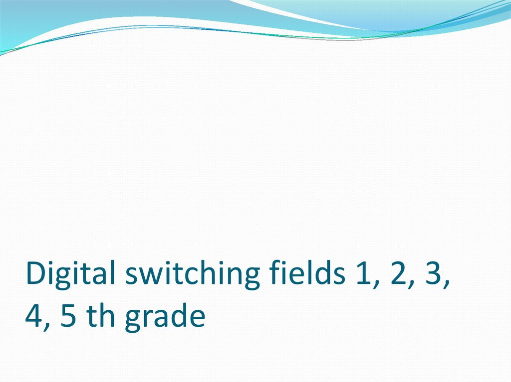 Digital switching fields 1, 2, 3, 4, 5 th grade
