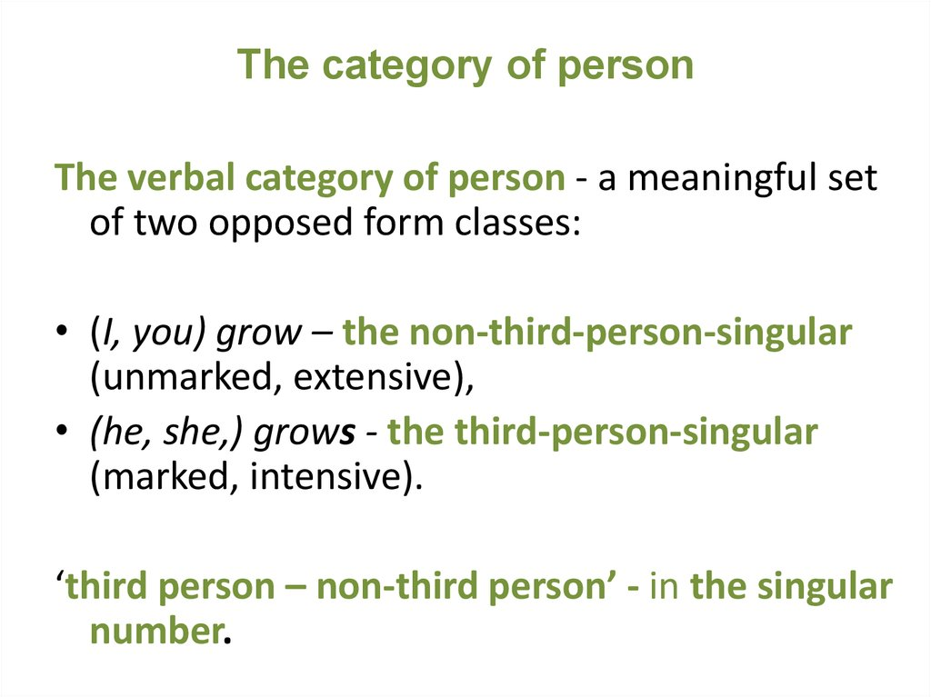 The category of person