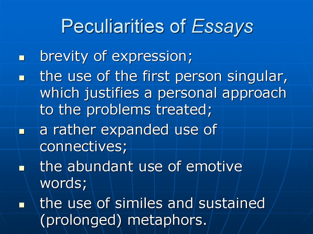 Peculiarities of Essays