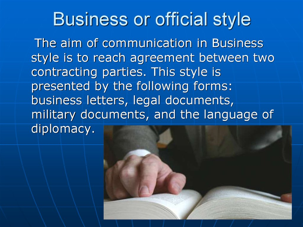 Business or official style