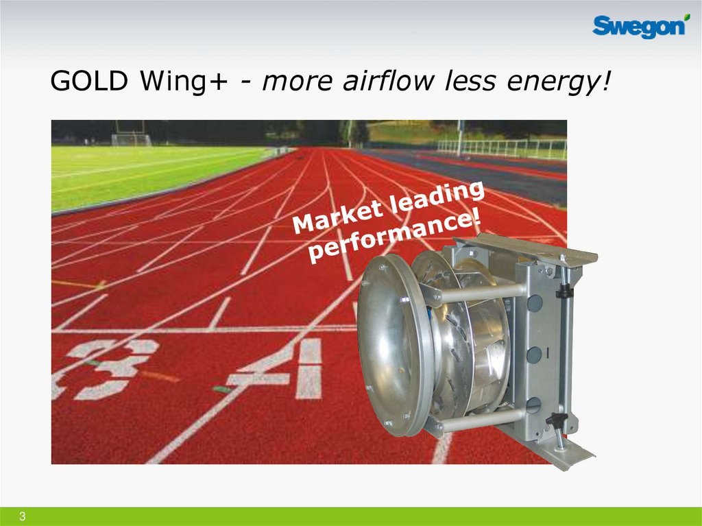 GOLD Wing+ - more airflow less energy!