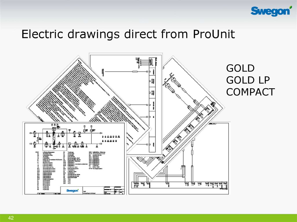 Electric drawings direct from ProUnit