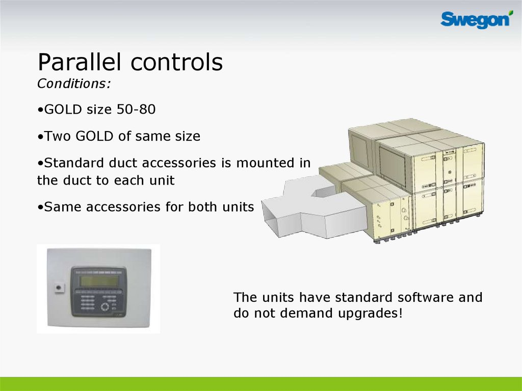 Parallel controls Conditions: