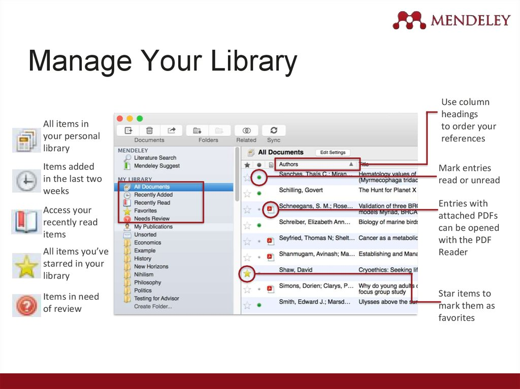 Manage Your Library