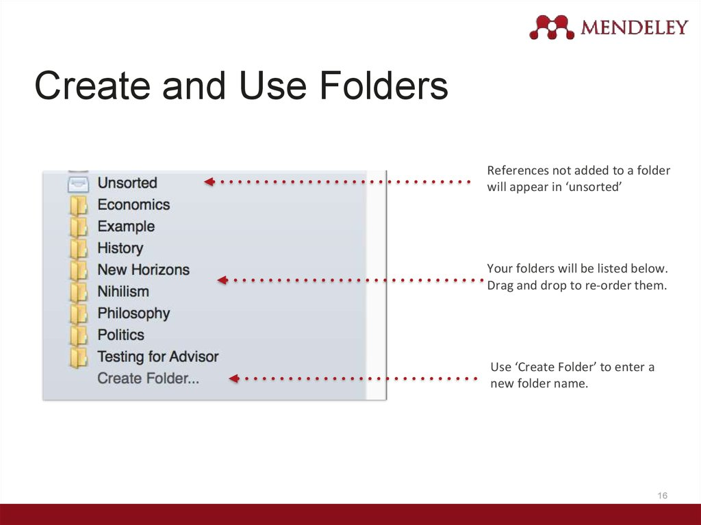 Create and Use Folders