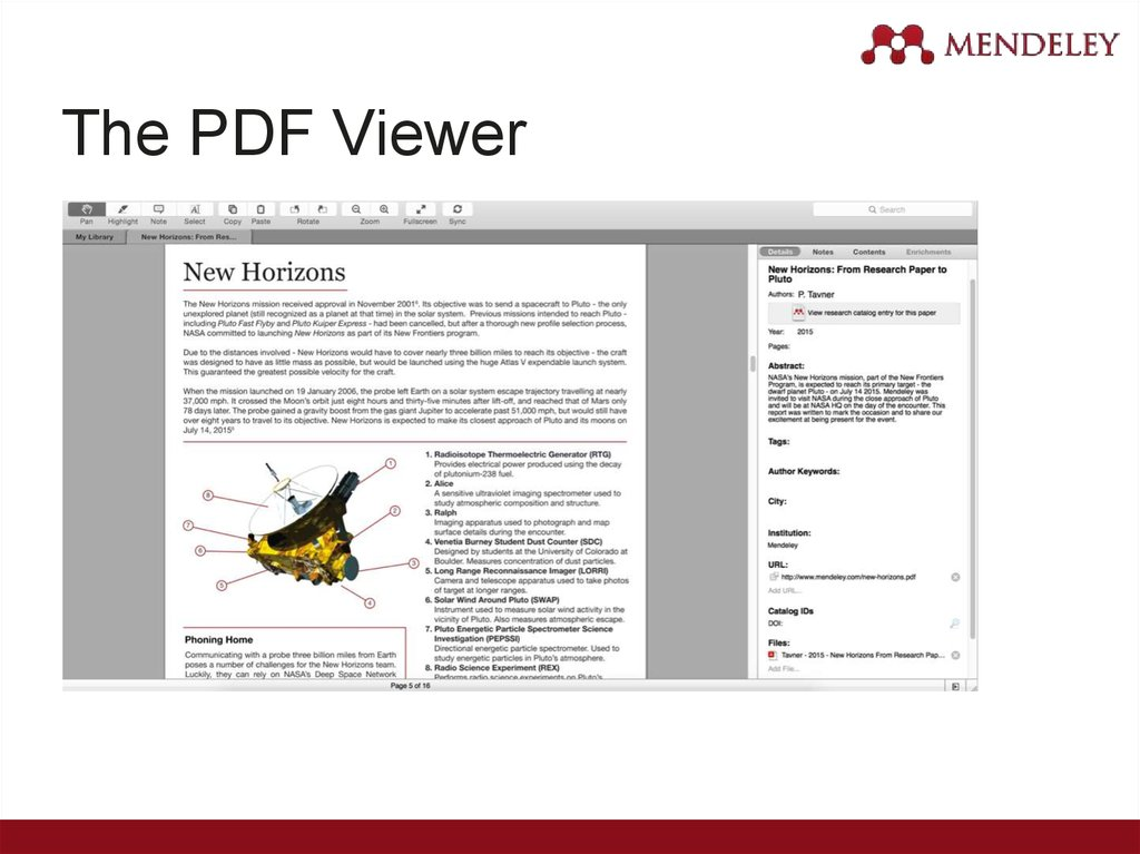The PDF Viewer