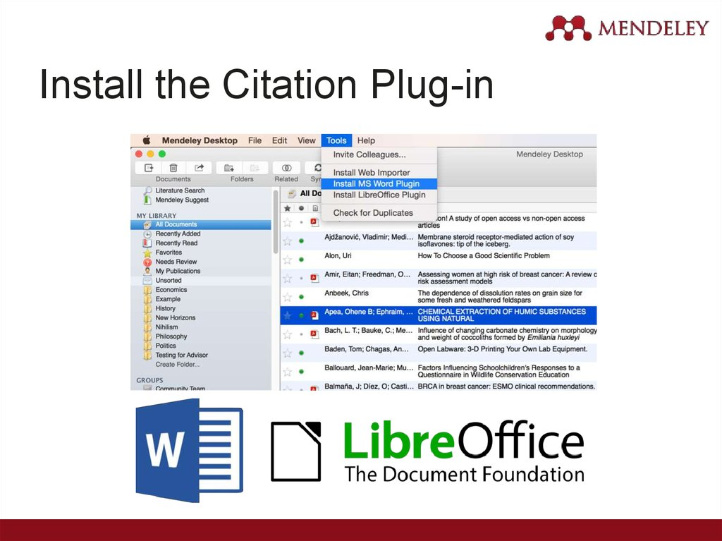 Install the Citation Plug-in