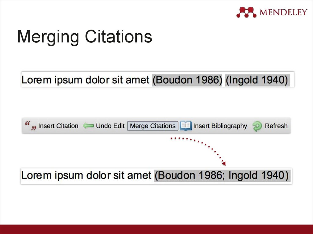 Merging Citations