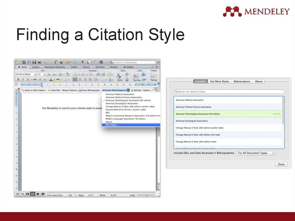 Finding a Citation Style