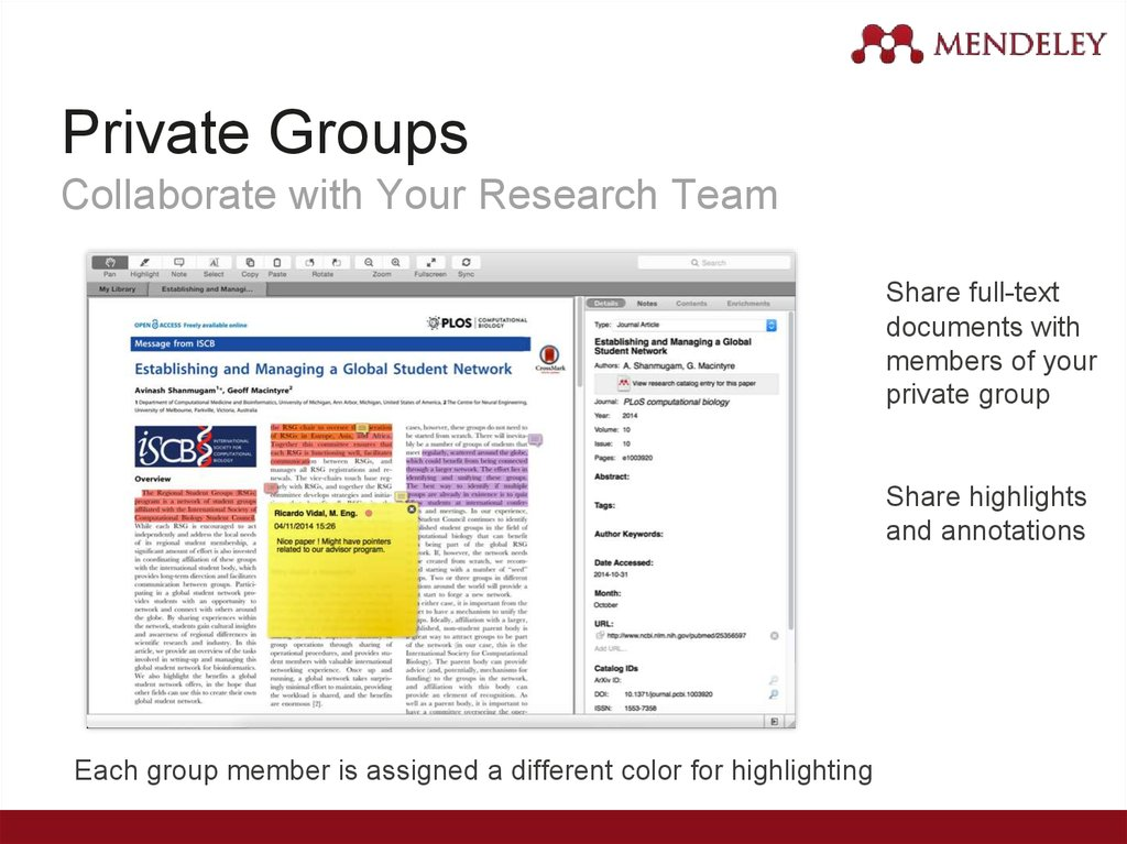 Private Groups Collaborate with Your Research Team