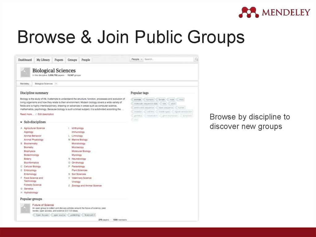 Browse & Join Public Groups