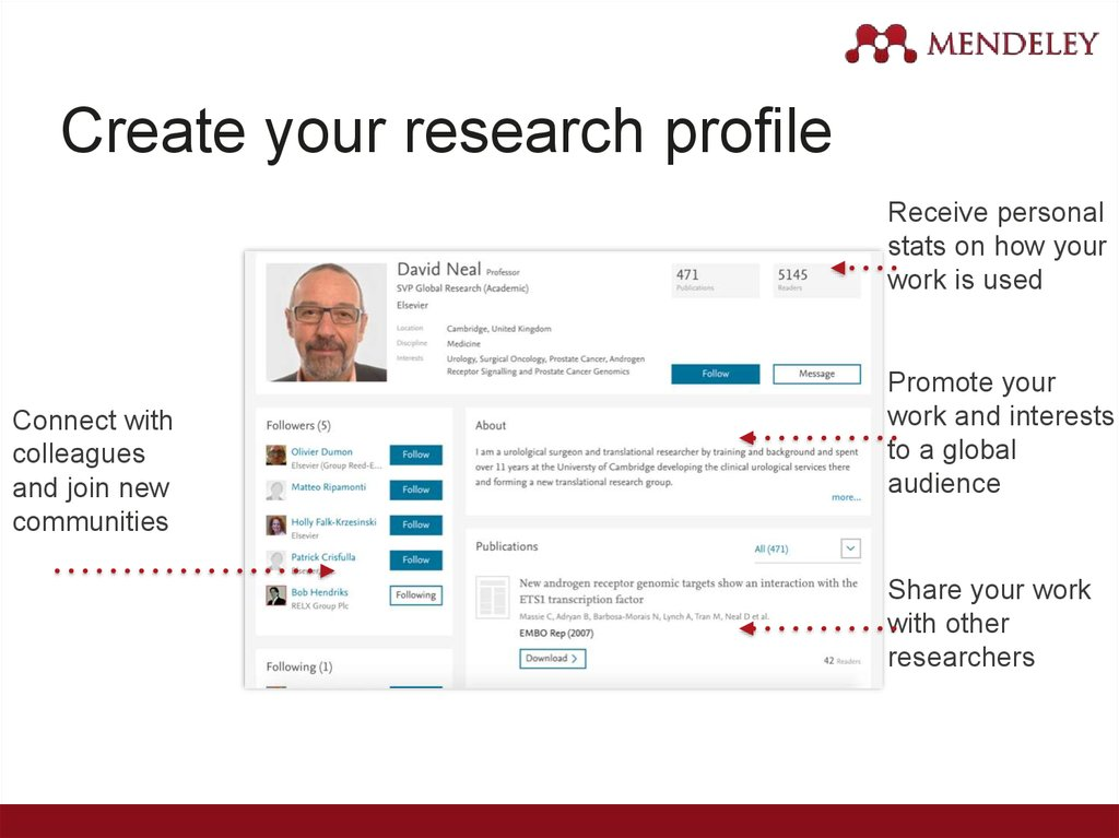 Create your research profile