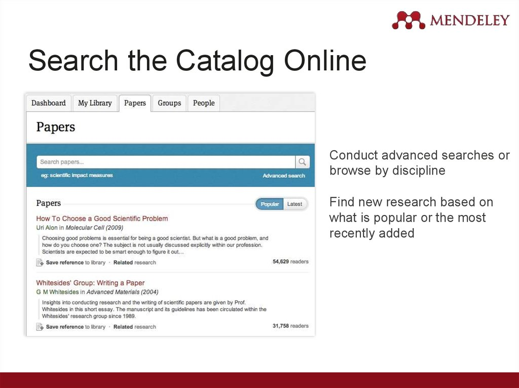Search the Catalog Online