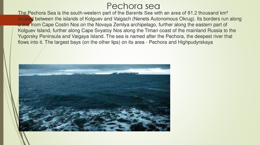 Pechora sea
