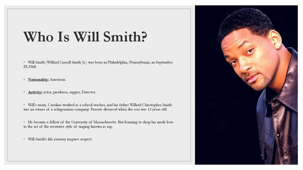 Who Is Will Smith?