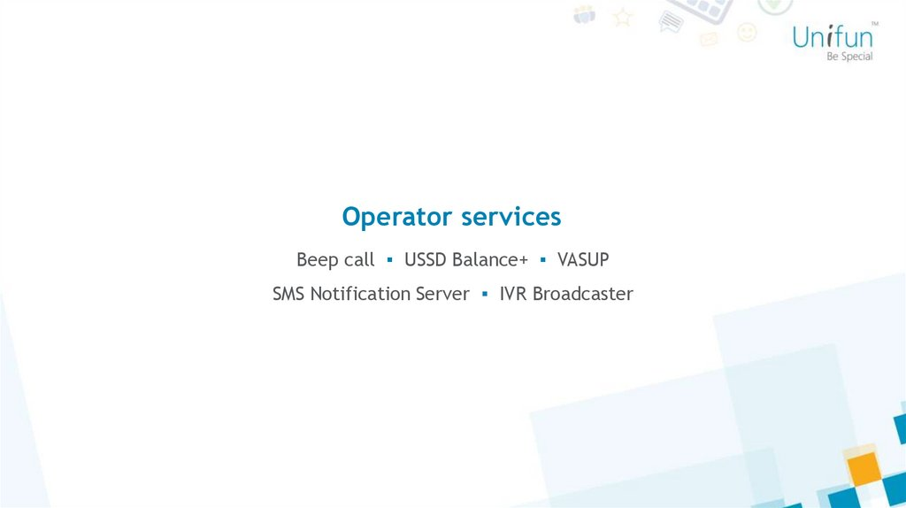 Operator services
